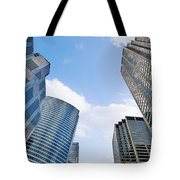Chicago - Skyscrapers Are Looking Down On Us Tote Bag by Christine Till