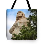 Chief Blackhawk Statue Tote Bag by Bruce Bley