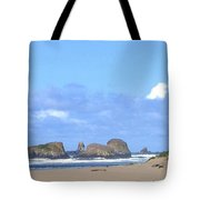 Chimneys Of Cannon Beach Tote Bag by Will Borden