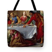 Christ In The House Of Simon The Pharisee Tote Bag by Claude Vignon