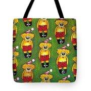 Christmas Teddy Bears Tote Bag by Genevieve Esson