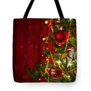 Christmas Tree Detail Tote Bag by Carlos Caetano