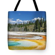Chromatic Pool Yellowstone National Park Tote Bag by Bruce Gourley