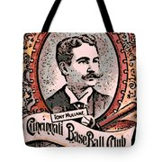 Cincinnati Baseball Tote Bag by George Pedro