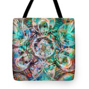 Circles Of Life Tote Bag by Mo T