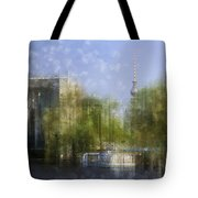 City-Art BERLIN River Spree Tote Bag by Melanie Viola