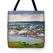 Cityscape Of Saint John's From Signal Hill Tote Bag by Elena Elisseeva