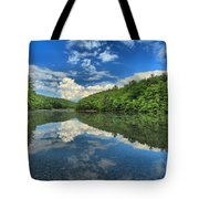 Clouds In The Lake Tote Bag by Adam Jewell