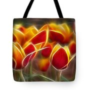 Cluisiana Tulips Fractal Tote Bag by Peter Piatt