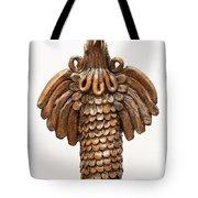 Cock Totem Bronze Gold Color Wings Beak Hair Eyes Scales Feathers Tote Bag by Rachel Hershkovitz