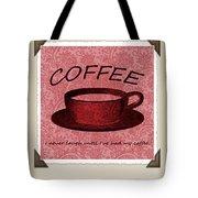 Coffee Flowers Scrapbook Triptych 1  Tote Bag by Angelina Vick