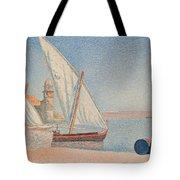 Collioure Les Balancelles Tote Bag by Paul Signac