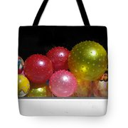 Colorful Balls In The Shop Window Tote Bag by Ausra Paulauskaite