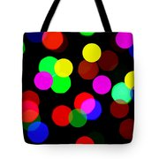 Colorful Bokeh Tote Bag by Paul Ge
