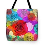 Colorful Floral Design Tote Bag by Setsiri Silapasuwanchai