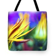 Colorful Flowers Tote Bag by Sumit Mehndiratta