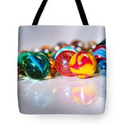 Colorful Marbles Tote Bag by Carlos Caetano