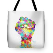 Colorful Painting Of Hand Tote Bag by Setsiri Silapasuwanchai