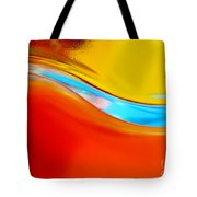 Colorful Wave Tote Bag by Carlos Caetano