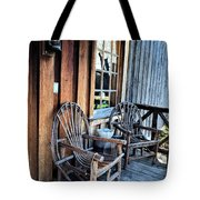 Come And Sit A While Tote Bag by Sandi OReilly