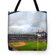 Comerica Park Home Of The Detroit Tigers Tote Bag by Michelle Calkins