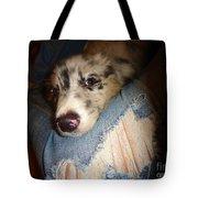 Comfy Blues Tote Bag by Art Dingo