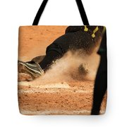 Coming Home With A Slide Tote Bag by Laddie Halupa