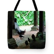 Communing With The Birds Tote Bag by Steve Taylor