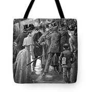 Commuter Rush Hour, 1890 Tote Bag by Granger