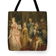 Concert At The Time Of Mozart Tote Bag by Ettore Simonetti