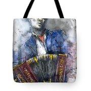 Concertina Player Tote Bag by Yuriy  Shevchuk