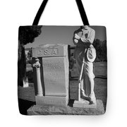 Confederate Soldier Memorial Tote Bag by Kathy Clark