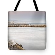 Constructions At The Sea Tote Bag by Guido Montanes Castillo