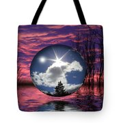 Contrasting Skies Tote Bag by Shane Bechler