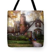 Cottage - Westfield Nj - Grandma Ridinghoods House Tote Bag by Mike Savad