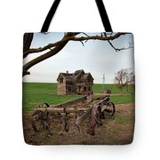 Country Home And Wagon Tote Bag by Athena Mckinzie
