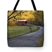 Country Lane - D007732 Tote Bag by Daniel Dempster
