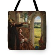 Couple Observing A Landscape Tote Bag by English School