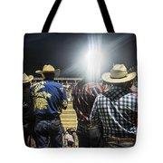 Cowboys At Rodeo Tote Bag by John Greim