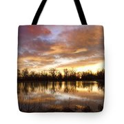 Crane Hollow Sunrise Boulder County Colorado Tote Bag by James BO  Insogna