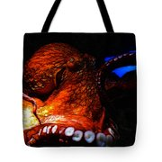 Creatures of The Deep - The Octopus - v6 - Orange Tote Bag by Wingsdomain Art and Photography
