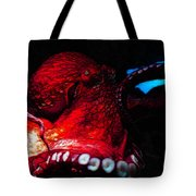 Creatures Of The Deep - The Octopus - V6 - Red Tote Bag by Wingsdomain Art and Photography