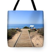 Crystal Cove State Park Ocean Overlook Tote Bag by Paul Velgos
