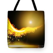 Curved  Lighting  Tote Bag by Setsiri Silapasuwanchai
