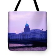 Custom House, Dublin, Co Dublin, Ireland Tote Bag by The Irish Image Collection