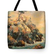 Cypress Tree Tote Bag by Carolyn Jarvis