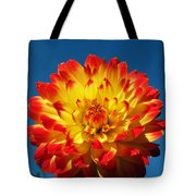 Dahlia 'procyon' Tote Bag by Ian Gowland and Photo Researchers