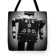 Dark Metal Robot Tote Bag by Edward Fielding