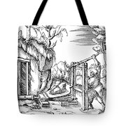 De Re Metallica, Bellows, 16th Century Tote Bag by Science Source