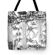 De Re Metallica, Mine Shafts, 16th Tote Bag by Science Source